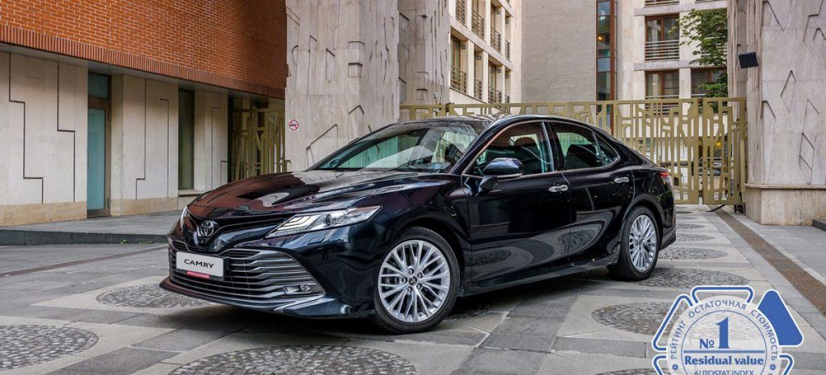 Пять моделей Toyota признаны лидерами по сохранению остаточной стоимости