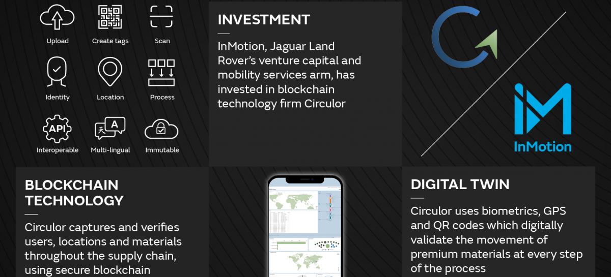 Инвестиции InMotion в Circulor помогут поставщикам Jaguar Land Rover заботиться об окружающей среде