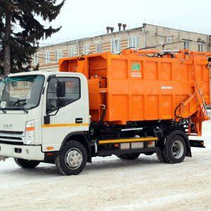 Новый мусоровоз на шасси JAC N80