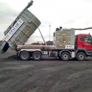 Вакуумный погрузчик на шасси MAN пополнил парк Усть-Лужского контейнерного терминала