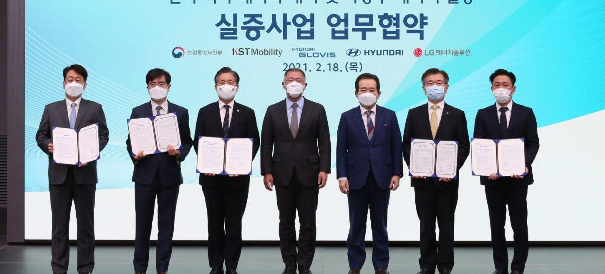 Hyundai заключила соглашение о лизинге аккумуляторов для электромобилей
