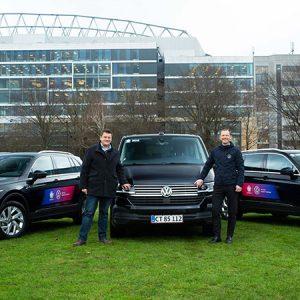 Volkswagen передает УЕФА первые автомобили