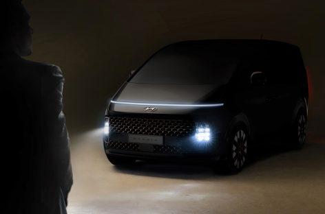 Hyundai публикует первое изображение нового минивэна STARIA с роскошным футуристичным дизайном