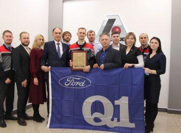 Соллерс Форд вручил сертификат о получении высшего статуса качества Q1 своему партнеру, «Аккурайд Уилз Руссиа»