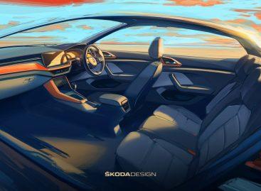 Skoda опубликовала первые эскизы интерьера нового Kushaq