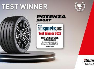 «Новая спортивная шина высшего класса»: Bridgestone Potenza Sport названа победителем теста спортивных шин 2021 года от журнала AutoBild sportscars