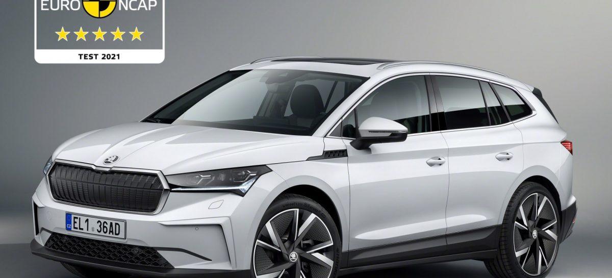 Новый Skoda Enyaq iv получил пять звезд Euro NCAP