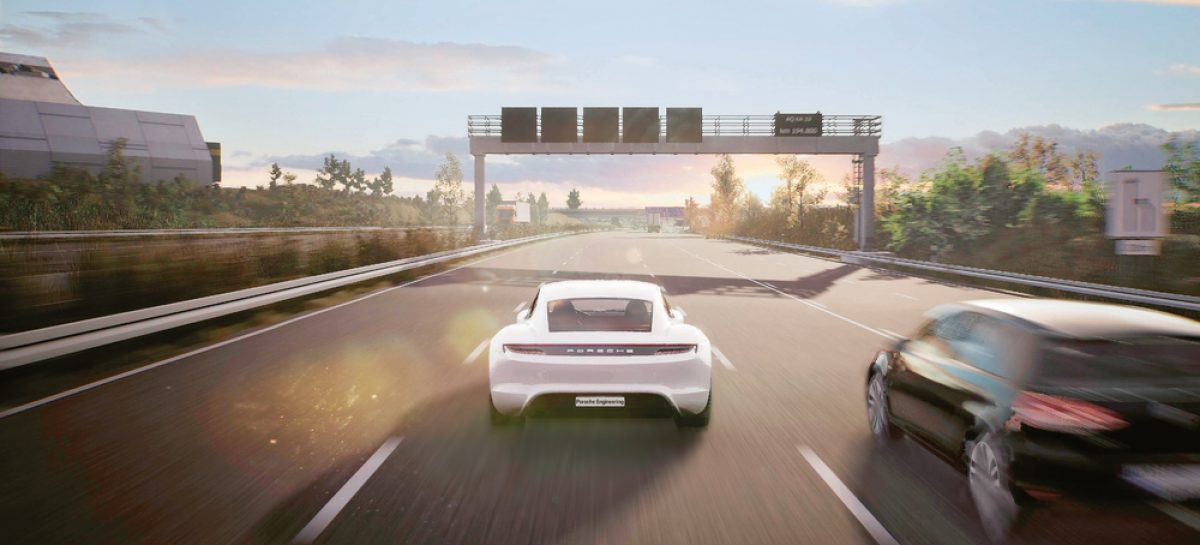 Porsche Engineering разрабатывает интеллектуальный автомобиль будущего с использованием технологий игровых движков