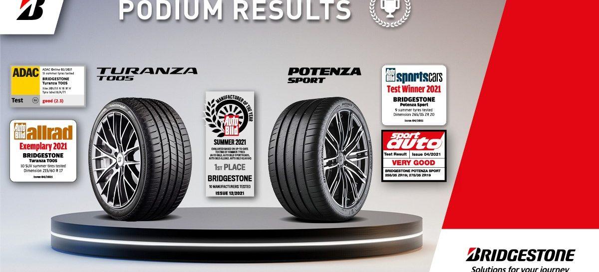 «Производитель года» Bridgestone лидирует в испытаниях летних шин в Европе