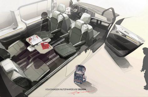 В новом Multivan складной столик стал многофункциональным инструментом