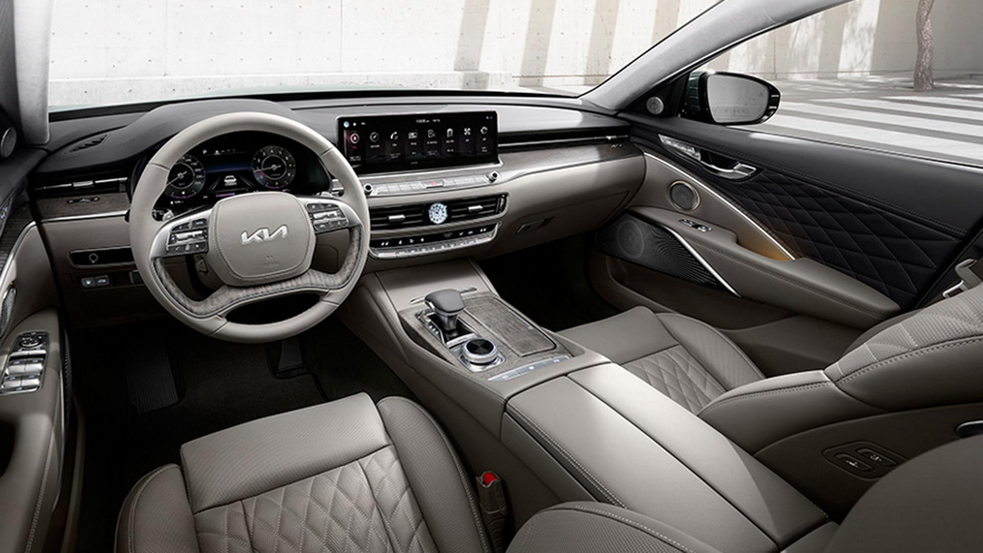 Роскошь и безопасность обновленного седана Kia K9 представлена в Корее