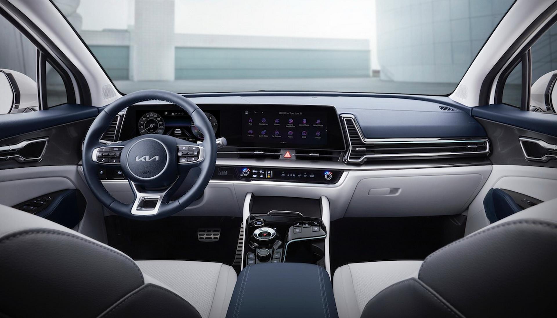 Спортивный дизайн Kia Sportage пятого поколения