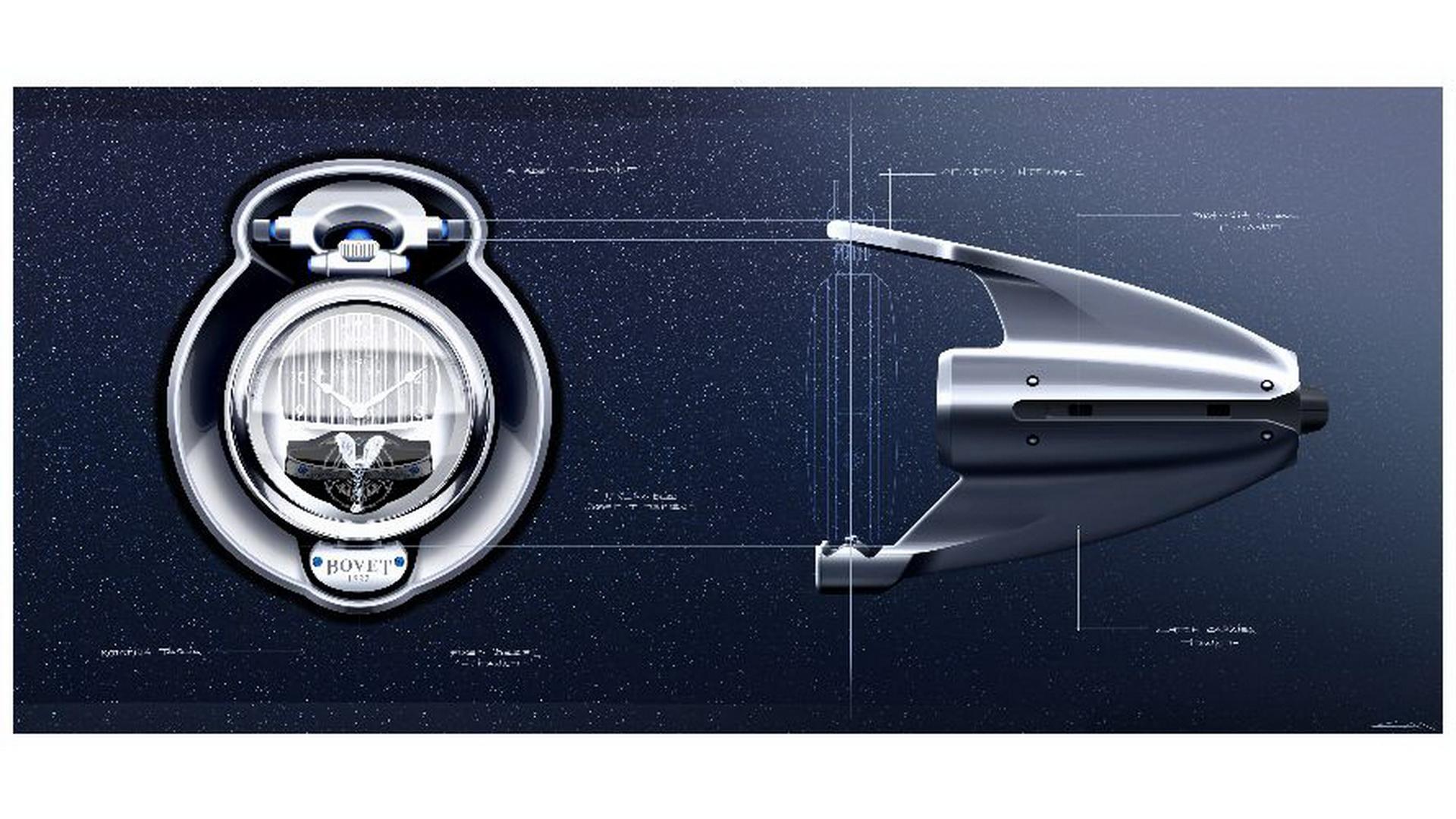 Уникальные часы для автомобиля Boat Tail от Rolls-Royce и BOVET
