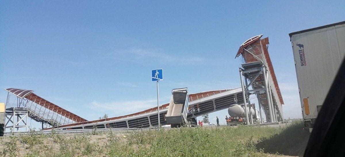 Возле Кургана на участке трассы Е-30 парализовано движение