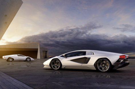 Lamborghini представляет футуристический суперкар Countach LPI 800-4, выпущенный лимитированной серией