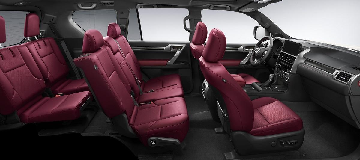 Салон Lexus GX 460 с обновлённым интерьером