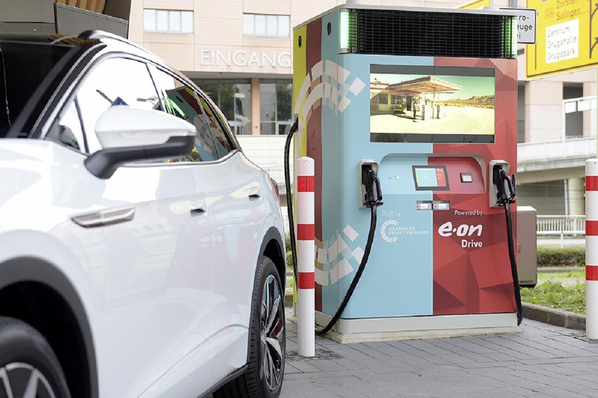 E.ON и Volkswagen станция быстрой зарядки