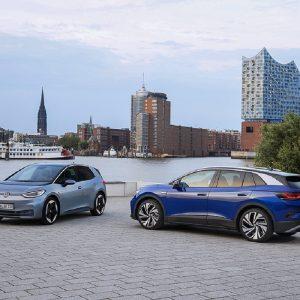 Продажи электромобилей Volkswagen в первой половине 2021 года